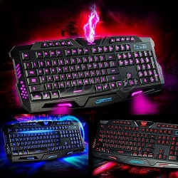 GAMING Multimedia Keyboard M-200 Backlit 3x color