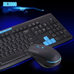 HK3800 2.4GHz Advanced Wireless Keyboard + Mouse Office Multimedia Combo