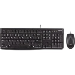Logitech MK120 USB Desktop Keyboard + Mouse Combo German QWERTZ
