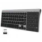 2.4GHz Mini Wireless Keyboard multi-touch touchpad numpad slim Black