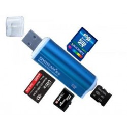USB 2.0 Multi Memory Card Reader Aluminium 4-in-1