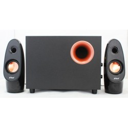 JT 2809 USB 2.1 Wooden Subwoofer Stereo Speaker Bass Black/Gold