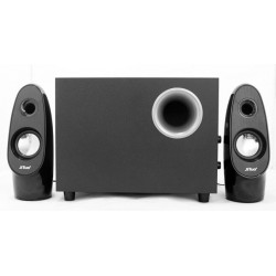 JT2809 USB 2.1 Wooden Subwoofer Stereo Speaker Bass Black/Silver