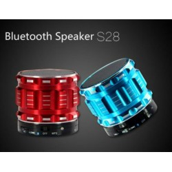 Bluetooth Speaker S28 Aluminum Subwoofer Wireless Calls Handsfree MicroSD Card Music