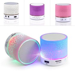 Bluetooth Speaker a9 Modern LED Illuminated Subwoofer Wireless Calls Handsfree MicroSD Card Music
