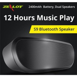 Bluetooth Speaker S9 Original Zealot Wireless Portable Full Stereo Music Player Support MicroSD Card USB