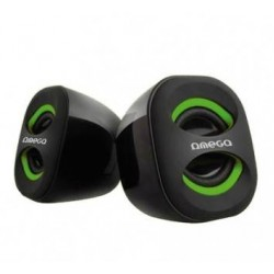 OMEGA SPEAKERS 2.0 OG-115G Green 3W RMS USB