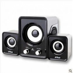 USB Speaker 2.1 Stereo Bass Sound JT-2802 Black