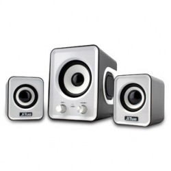 USB Speaker 2.1 Stereo Bass Sound JT-2802 White