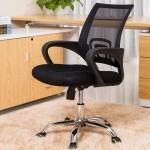 Office & Home Mesh Chair NAPOLI Black Modern Adjustable with Metal Base