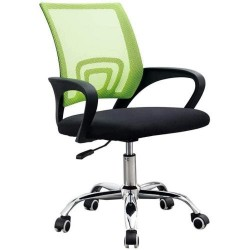 Office & Home Mesh Chair NAPOLI Green Modern Adjustable with Metal Base