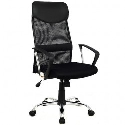 Computer Office Mesh Chair Medium Standard Black