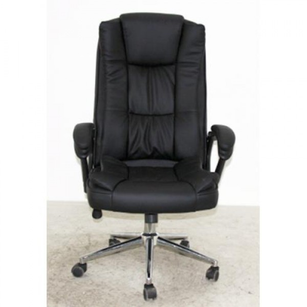 Executive Modern Manager Big Chair OC110 Steel Chrome Black