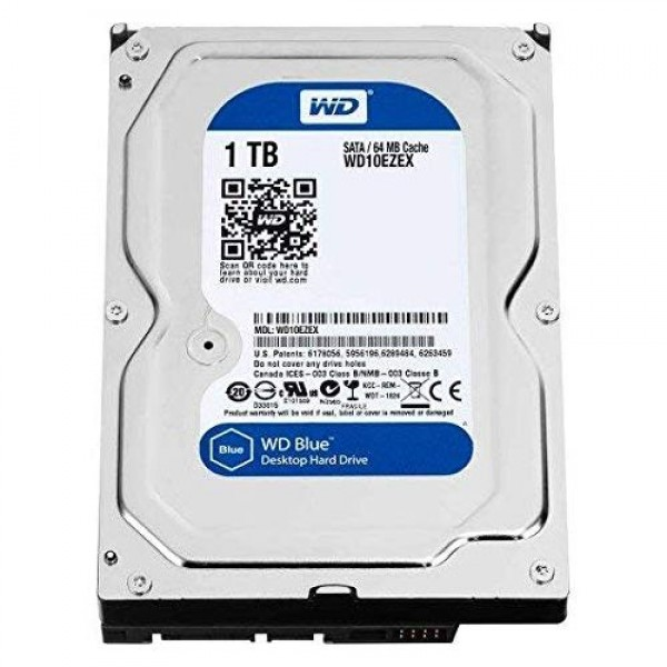 "1TB 3.5"" HDD Western Digital WD WD10EZEX Blue 7200RPM 64MB Internal"