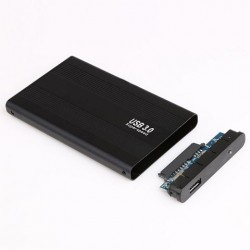 USB 3.0 HDD Box External Enclosure Case for 2.5 inch SATA Hard Drive Aluminium Black