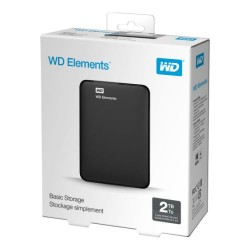 WD Elements 2TB USB3.0 HDD Portable Drive Black