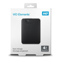 WD Elements 4TB USB3.0 HDD Portable Drive Black