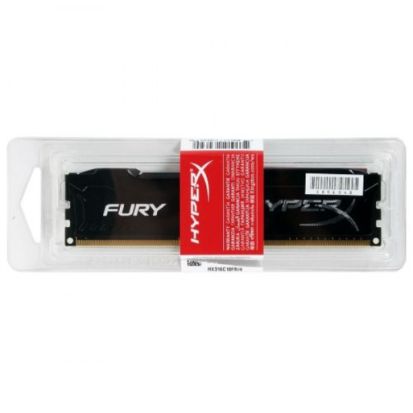 Kingston HyperX FURY 4GB DDR3 1600MHz CL-10 240-pin UDIMM Black