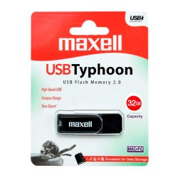Maxell USB 2.0 Stick Flash Drive TYPHOON Black 32GB