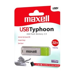 Maxell USB 2.0 Stick Flash Drive Typhoon 32GB White + Green