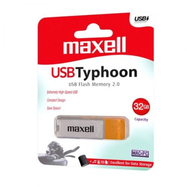 Maxell USB 3.1 Stick Flash Drive 32GB White + Orange