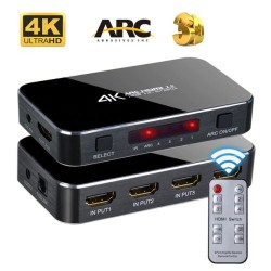 4K HDMI Switch 4xPort ARC 3D HDCP HDR10 1080P 4Kx2k HDTV