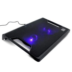 "Laptop Cooler Stand S100 2x Fans Illuminated Led 15"" Slim Super Silent"