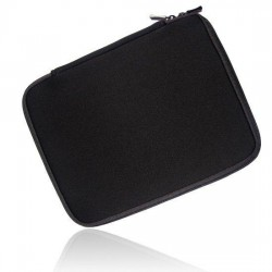 Tablet Sleeve with zipper black 10""