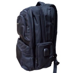 "Laptop Bag 17"" SS-9143 Notebook Anti Theft USB & 3.5mm Audio Black BackPack - Ранец за Лаптоп"