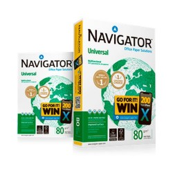Navigator Universal A4 80gsm copy paper 1/500 ISO9001 ISO14001