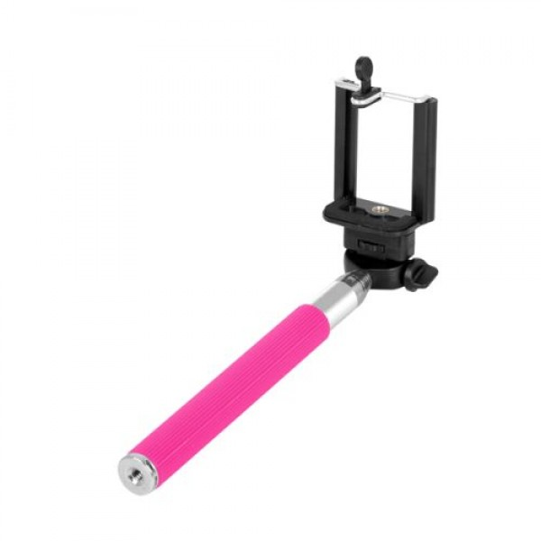 Trevi ST80 Extendable Selfie Stick Telescopic Metal Phone Holder Handheld Monopod for Smartphone Universal Pink