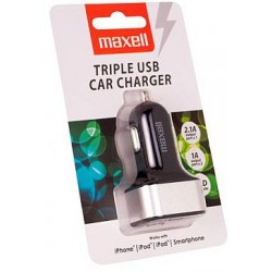 Maxell Phone Triple 3x USB Car Charger 4.1A (2.1A+1A+1A)