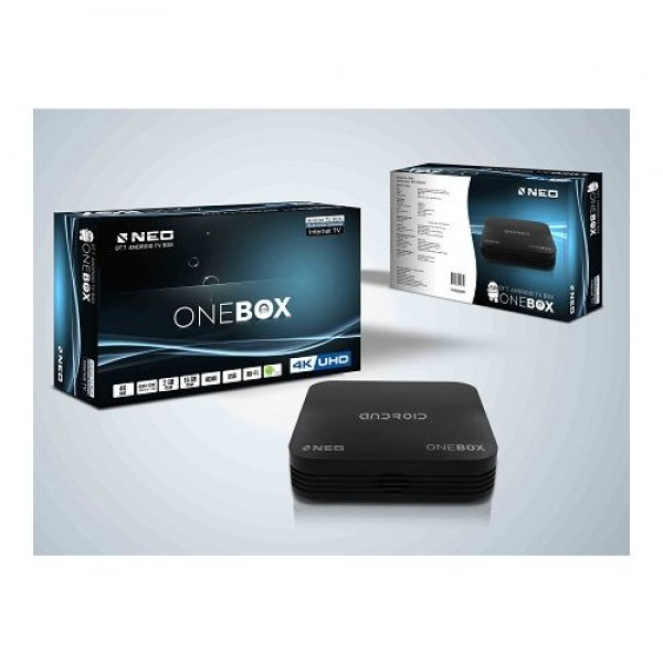 Android 4K Smart TV Box NEO ONEBOX Black 2GB 16GB Android 7.0